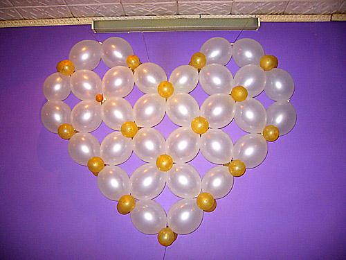 Как сделать сердце из шаров без каркаса - УО РМД